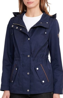 Women's Lauren Ralph Lauren Hooded Drawcord Jacket $180 thestylecure.com