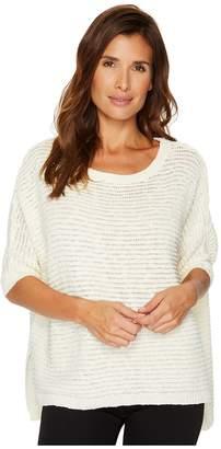Vince Camuto 3/4 Sleeve Crinkle Yarn Dolman Sweater Women's Sweater