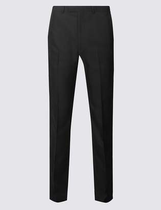 M&S CollectionMarks and Spencer Black Tailored Fit Trousers