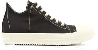 Rick Owens Geobasket Low Top Canvas Trainers - Mens - Black