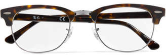 Ray-Ban Clubmaster Acetate And Silver-tone Optical Glasses - Black