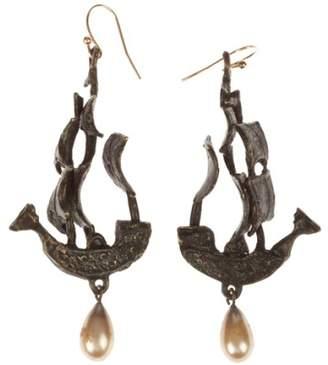 Of A Kind Handmade One Pirate Ship Earrings