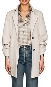 Giorgio Armani Women's Wool-Blend Babydoll Coat - Cream