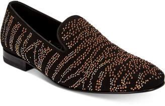 Roberto Cavalli Men's Metal Studs Suede Loafers Men's Shoes