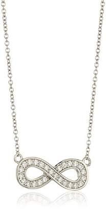 Swarovski Platinum-Plated Sterling Zirconia Infinity Pendant Necklace