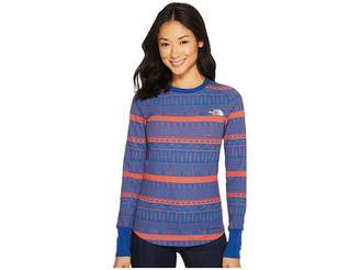 The North Face Long Sleeve Holiday Nordic Waffle Tee Women's Long Sleeve Pullover