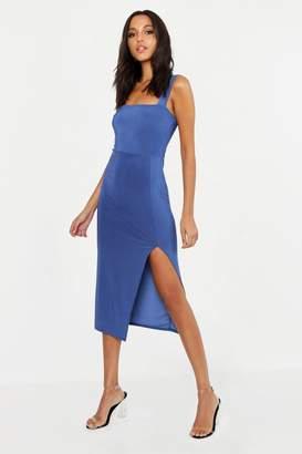 boohoo Tall Square Neck Bodycon Midi Dress