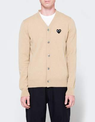 Comme des Garcons Play Cardigan in Beige