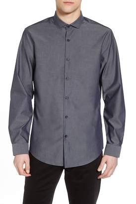 CALIBRATE Slim Fit Solid Sport Shirt