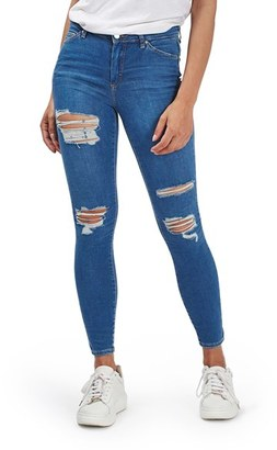 Women's Topshop Moto Leigh Super Ripped Ankle Skinny Jeans $75 thestylecure.com