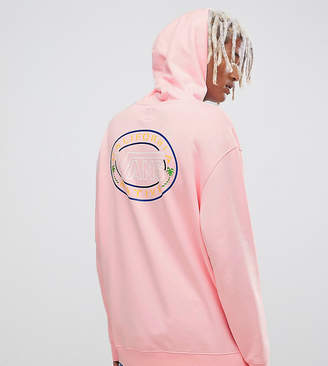 Vans retro hoodie with back print in pink Exclusive at ASOS