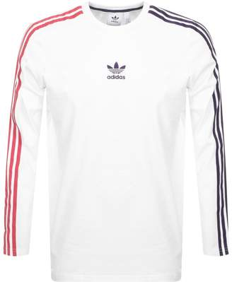 adidas Sportivo 3 Stripes T Shirt White