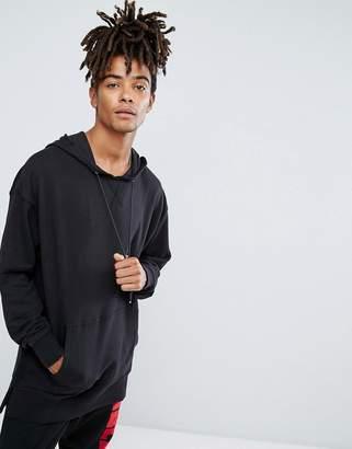 New Look Dropped Shoulder Hoodie In Black