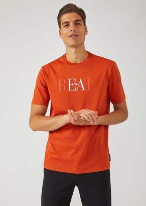 Emporio Armani Jersey T-Shirt With Easy Embroidery