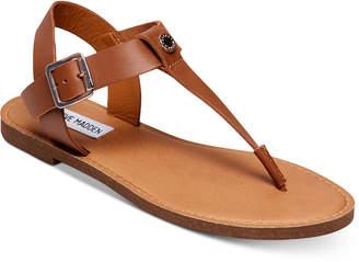 Steve Madden Women's Skylar T-Strap Flat Sandals