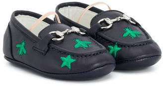 Gucci Kids slip-on buckle loafers