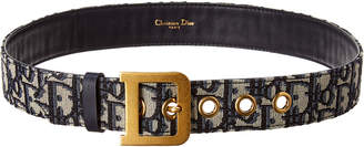 Christian Dior Diorquake Oblique Canvas & Leather Belt