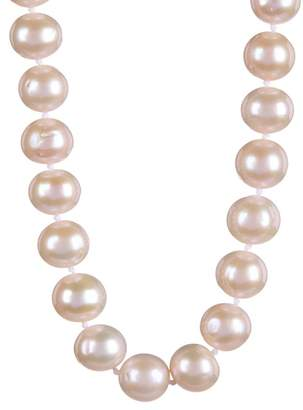 Splendid Pearls 14K Yellow Gold 10-11mm White Cultured Freshwater Pearl Necklace