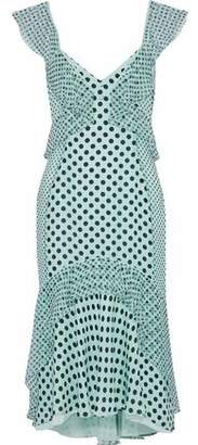 J. Mendel J.mendel Ruffled Polka-Dot Silk-Chiffon Dress