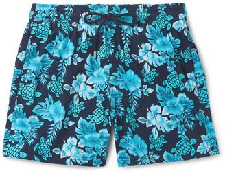 Vilebrequin Moorise Slim-Fit Mid-Length Printed Swim Shorts - Men - Blue