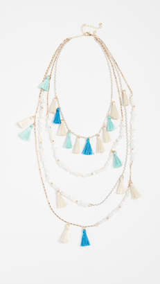 Rebecca Minkoff Layered Tassel Statement Necklace