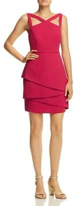 BCBGMAXAZRIA Strap-Detail Crepe Dress