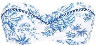 Seafolly Lovebird Reversible Bustier Bandeau Bikini Top