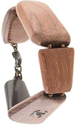 Chanel Pre-Owned CC Logos Wooden Bracelet