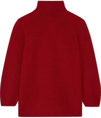 Max Mara - Belgio Textured Wool-blend Turtleneck Sweater $545 thestylecure.com