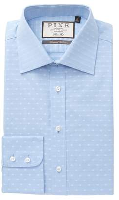 Thomas Pink Barratt Textured Slim Fit Dress Shirt