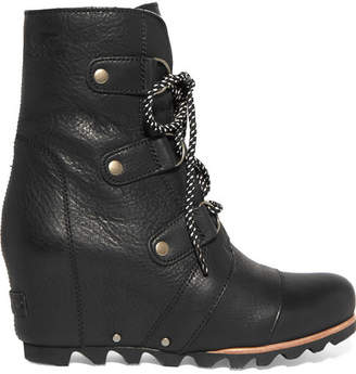 Sorel Joan Of Arctic Waterproof Leather Ankle Boots - Black