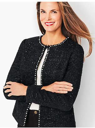 Talbots Tweed Sequin & Pearl Jacket