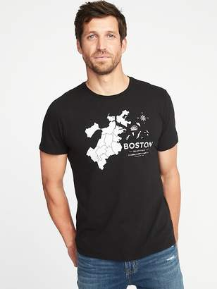 Old Navy Soft-Washed Boston-Graphic Tee for Men