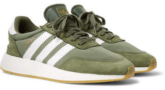 adidas I-5923 Suede-Trimmed Neoprene Sneakers - Men - Army green