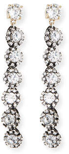 Lulu Frost Royale Linear Crystal Drop Earrings