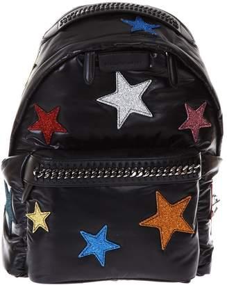 Stella McCartney Falabella Go Star Black Nylon Backpack