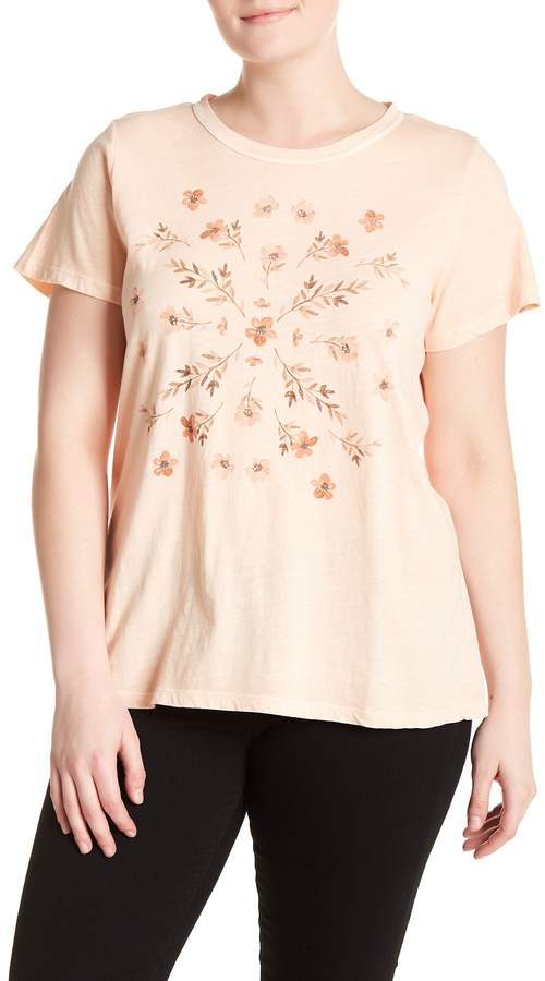 Stamp Floral Tee (Plus Size)