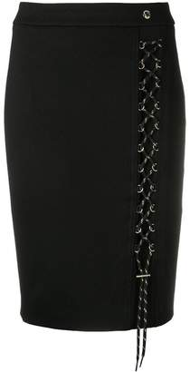 Versace lace-up pencil skirt