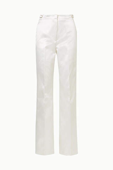 Gabriela Hearst - Vesta Cotton And Silk-blend Satin Wide-leg Pants - Ivory