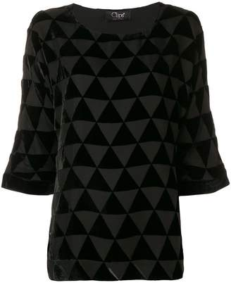 Clips triangle mosaic blouse