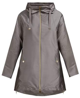 Herno Hooded Technical Coat - Womens - Silver