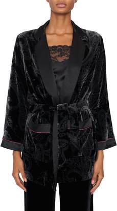 Etro Black Velvet Devore Jacket
