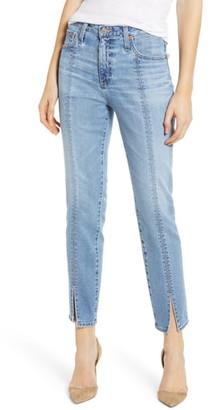 AG Jeans Isabelle High Waist Split Hem Ankle Straight Leg Jeans