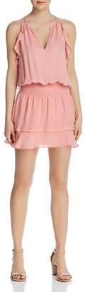 Parker Williame Sleeveless Ruffle-Trim Dress