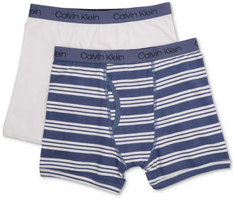 Calvin Klein 2-Pk. Cotton Boxer Briefs, Toddler Boys, Little Boys & Big Boys