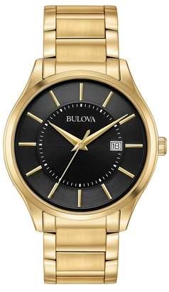 Bulova Men's Quartz Stainless Steel Gold Bracelet Watch, 40mm
