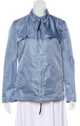 Prada Mesh-Paneled Zip-Up Jacket
