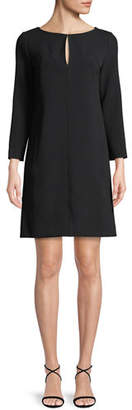 Lela Rose Long-Sleeve Shift Dress