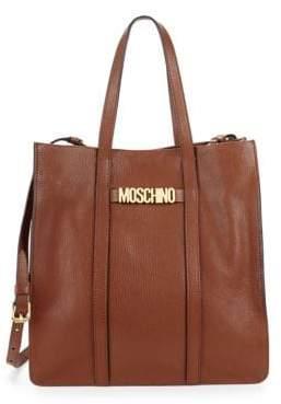 Moschino Convertible Leather Crossbody Bag