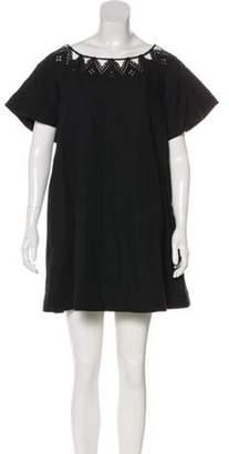 3.1 Phillip Lim Wool & Linen-Blend Dress Black Wool & Linen-Blend Dress